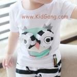ชุดเด็ก นกฮุกขาว(เซท) ไซส์ 12ด,23ด (เสื้อเด็ก+กางเกงเด็ก)