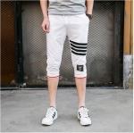 กางเกงขาสั้น3ส่วน JOGGER WHITE/BLACK STRIPED