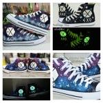 รองเท้าผ้าใบ เรืองแสง EXO (บอกไซส์ในใบสั่งซื้อ)