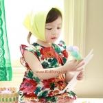เสื้อเด็กหญิง ลายดอกเข้ม ไซส์ 7,13,15