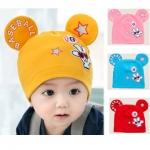 BB001 หมวกทรงมิกกี้ สวย น่ารัก เนื้อผ้ามีความยืดหยุ่น สำหรับเด็กประมาณ 6-24 เดิอน