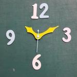 ชุดตัวเครื่องนาฬิกาญื่ปุนเดินเรียบ เข็มลายโมเดิน ขนาดเล็ก เข็มสั้น-เข็มยาวสีเหลือง เข็มวินาทีสีฟ้า อุปกรณ์ DIY