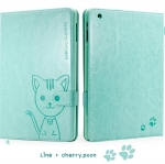 """""""Hello Deere"""" """"Leiers Domi Cat"""" Series Wallet Style Soft Cover for iPad 2/3/4"""