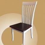 เก้าอี้ไม้จริง สีขาว ที่นั่งเป็นไม้จริงทั้งแผ่น (TW-COLLECTION)