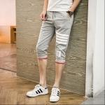 กางเกงขาสั้น3ส่วน JOGGER GREY/WHITE STRIPED