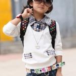 เสื้อผ้าเด็ก แขนยาวปกเชิ๊ตเท่ๆไซส์ 100,110,120