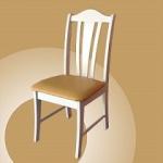 เก้าอี้ไม้จริง สีขาว ดีไซน์สวย คุณภาพส่งออก (SW-COLLECTION)