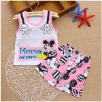 เสื้อ Mickey + กางเกงสีชมพู ไซส์ 80-90-100