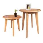 โต๊ะกลมไม้จริง 60xh75 ซม.ดีไซน์น่ารัก สำหรับร้านกาแฟ ร้านอาหาร