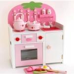 ชุดครัวสตรอเบอรรี่ สีชมพู (Mother Garden Strawberry Kitchen Pink Set)