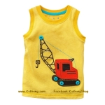 เสื้อกล้ามเด็ก ลาย Truck5 ไซส 5,6ปี
