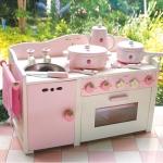 ชุดครัว Strawberry Kitchen Set แบบ 3 หัวเตา (Mother Garden Sixiren-Strawberry Wooden Gas Cooker Kitchen Set)