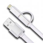 สายชาร์จ 2 หัว สำหรับ Android&iPhone สีขาว ยี่ห้อ Remax