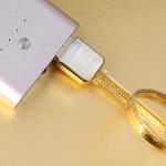 สายชาร์จโทรศัพท์มือถือ ความยาว 1M สำหรับ Android สีทอง - ยี่ห้อ Remax แท้ 100%