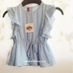 เสื้อเด็กหญิงฟ้าหม่นYolk (by Shelter) ไซส์ 6-12ด