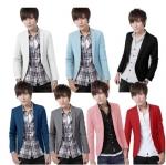 เสื้อสูท แฟชั่นเกาหลี แบบบาง#01 [พรีออเดอร์]