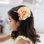 กิ๊บติดผมเด็ก ดอกคาร์เนชั่นสีเหลือง