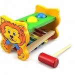ของเล่นไม้ ระนาด ตอกทุบ รูปสิงโต