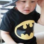 เสื้อเด็กแขนสั้น ลาย Black-Batman ไซส์ ไซส์ 12ด,18ด,23ด