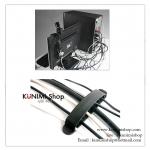 GK237 ที่ยึดสายไฟ สายคอมพิวเตอร์ ช่วยจัดระเบียบสายไฟต่าง 1 แพค มี 3 ชิ้น ยึดติดแบบกาวสองหน้า