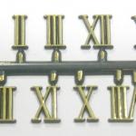 ชุดตัวเลขสำหรับประกอบนาฬิกา เลขโรมัน สีทองขอบดำ ตัวเลขสูง 13มม. อุปกรณ์ DIY