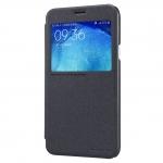 เคสซัมซุงJ7 เคสแบบฝาพับ วัสดุเกรดพรีเมียม สไตล์เรียบหรู สีดำเมทัลลิค รุ่น Sparkle Leather Case สีดำ