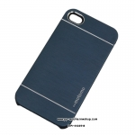 Motomo Metal Back Case Cover For Apple iPhone 4 Full Blue