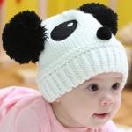 หมวกรูปหมีแพนด้า สีขาว น่ารักสไตล์เกาหลี