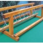 สะพานโซ่ทรงตัว ไม้ SIZE:2.8X1.3X0.8 m.