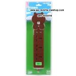 รางปลั๊กไฟ USB Powermax Line Friends Brown Plug
