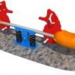 ไม้กระดกสปริงม้าน้ำ 2 คน SIZE:280X28X80 cm.