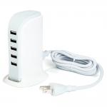 ที่ชาร์จ USB 5 ช่อง 30W USB Power Adapter สีขาว