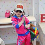 หมวกยีนส์เด็ก TAKE ตัวหนังสือสีแดง น่ารักสไตล์เกาหลี