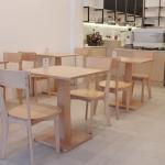 เก้าอี้ดีไซน์สวย สไตล์ Scandinavian ที่นั่งไม้จริง ทนทานต่อการใช้งาน (MARUNI-WS)