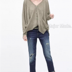Zara Denim Pants กางเกงยีนส์zara งานเป๊ะมากค่ะ ผ้ายีนส์แท้เนื้อหนา งานปักแน่นฟอกสีสวย ใส่ได้หลายโอกาสค่ะ