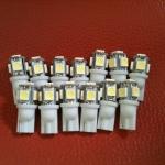 หลอดไฟ ไฟหรี่ ขั้ว T10 SMD 5 ดวง สีขาว 1 คู่