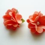 กิ๊บติดผมเด็ก(ดอกไม้2) สีโอรส1 คู่