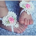Baby foot band ลายหัวใจ