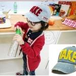 หมวกยีนส์เด็ก TAKE ตัวหนังสือสีเหลือง น่ารักสไตล์เกาหลี