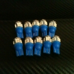 หลอดไฟ ไฟหรี่ ขั้ว T10 SMD 5 ดวง สีน้ำเงิน 1 คู่