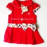 ชุดเด็ก(เดรส)สีแดง ไซส์ 1