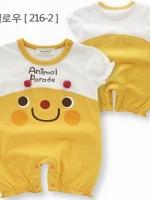 ชุดบอดี้สูทเด็กสีเหลือง มาใหม่สไตล์เกาหลี ผ้า cotton เนื้อนุ่ม ใส่สบาย