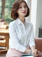 เสื้อเชิ้ตสไตล์เกาหลี แต่งดีเทลด้านหน้าเก๋ๆ เนื้อผ้าดีสวมใส่สะบาย งานนำเข้าแท้คุณภาพดี