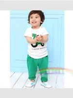 ชุดเซตเด็ก  เสื้อ +กางเกง ตกแต่งคล้ายชุดเอี้ยม น่ารักสไตล์เกาหลี เก๋มากค่ะ