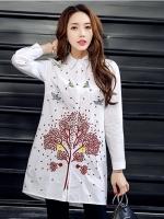 เสื้อเชิ้ตตัวยาวสไตล์เกาหลี แต่งดีเทลปักแต่งเก๋ๆ เนื้อผ้าดีสวมใส่สะบายงานนำเข้าแบรนด์แท้ของเมืองนอกคุณภาพดี