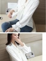 เสื้อสไตล์เกาหลี แต่งดีเทลด้านหน้าเก๋ๆ เนื้อผ้าดีสวมใส่สะบาย งานนำเข้าแท้คุณภาพดี