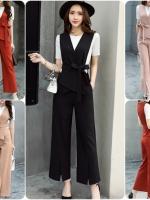 ชุดเซ็ทเสื้อ+กางเกง งานสไตล์เกาหลี ดีไซร์เก๋ เนื้อผ้าดีสวมใส่สะบาย งานนำเข้าแบรนด์แท้ของเมืองนอก คุณภาพดี