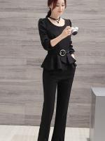 ชุดเซ็ทเสื้อ+กางเกงงานสไตล์เกาหลี มีสาม 4 สี ดำ/เทา/ฟ้า/ไวท์แดง แต่งดีเทลเก๋ๆ เนื้อผ้าดีสวมใส่สะบาย งานนำเข้าแบรนด์แท้คุณภาพดี