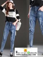 กางเกงยีนส์ยีดเอวสูงซิปมีกระเป๋าหน้าหลัง มี 2 สีคือ ยีนส์อ่อนและยีนส์เข้ม