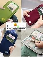 Bags in bag กระเป๋าจัดระเบียบเสื้อผ้า สำหรับเดินทาง กระเป๋าเอนกประสงค์เก็บพาสปอร์ตและบัตรต่างๆ